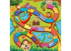 动物园卡通游戏界面图片