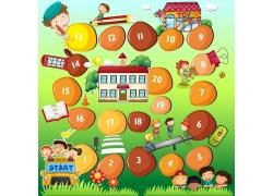 儿童游戏卡通数字按钮图片