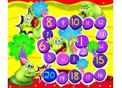 儿童游戏数字按钮设计图片