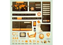 棕色网站设计素材