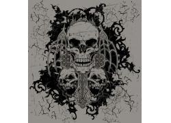怀旧骷髅图案