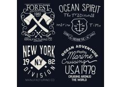 英文图标T恤设计