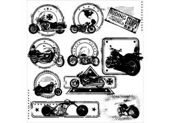 摩托车邮戳图片