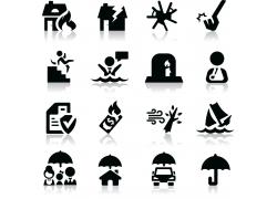 黑色保险主题图标设计