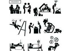 黑色保险主题图标