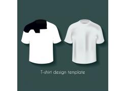 黑白简约短袖T恤模板