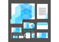 个性时尚蓝色商务VI模板