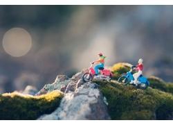 骑摩托的3D小人