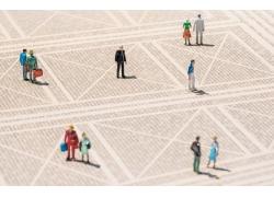 广场的3D小人