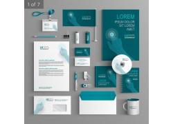 蓝色数码科技企业VI设计