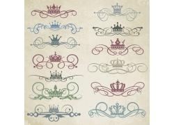 植物花纹皇冠装饰元素