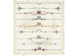 皇冠精美花纹装饰元素