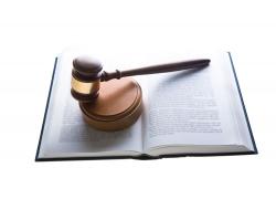 法律书本与锤子