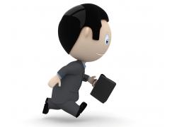 奔跑的3D小人职业人物