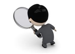 看放大镜的3D小人
