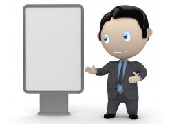灯箱广告与3D小人