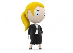 3D卡通职业女性