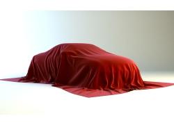 盖住汽车的红布