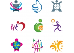 运动小人logo设计图片