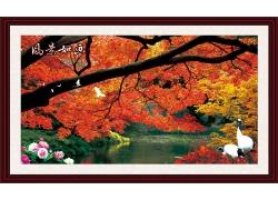 秋天风景装饰画