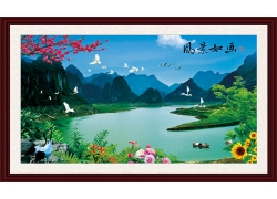 桂林山水中堂画