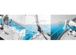 帆船无框画
