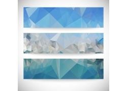 蓝色多边形横幅