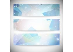 星光多边形横幅背景