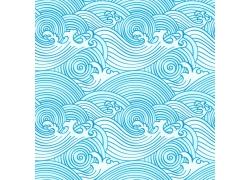 蓝色海浪日本图案
