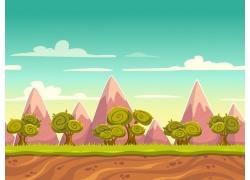 游戏场景风景插画图片