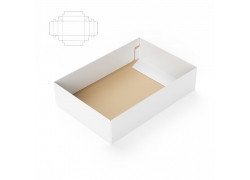 包装盒子效果图与钢刀线
