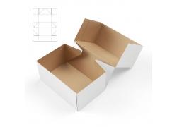 纸盒效果图与展开图