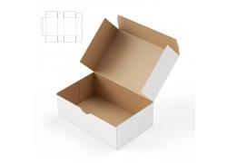 纸盒展开平面图与立体效果图