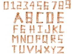 木纹英文字母字体