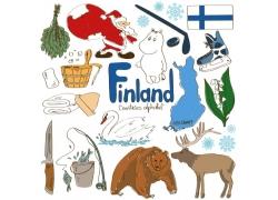 芬兰卡通标志物图片