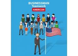 美国商务人士漫画图片