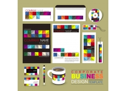 彩色印刷VI模板