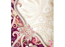 花卉插画背景边框