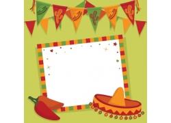 墨西哥彩旗背景