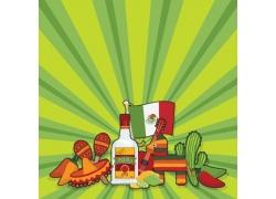 墨西哥国旗元素