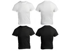 白黑两色T恤设计