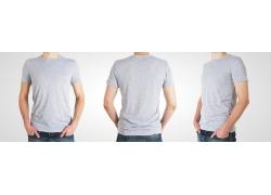 灰色男士T恤