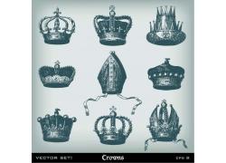 皇冠素描插画