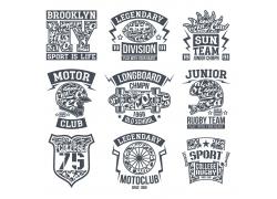 体育运动T恤印花设计