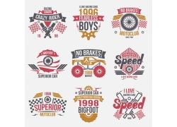 越野车比赛T恤印花设计