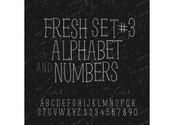 黑白个性英文字体