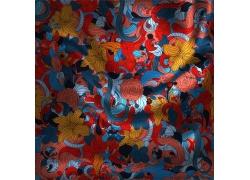 花卉图案绸子背景