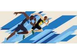 短跑运动员插画