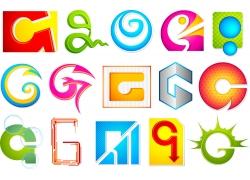 创意G字母logo设计