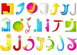 J字母logo设计